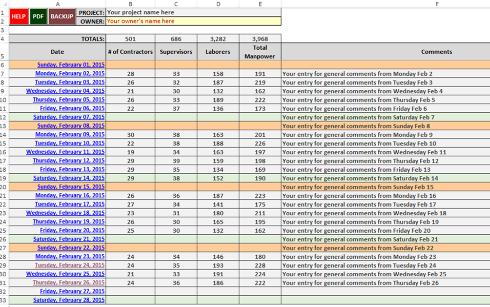 Construction Management Daily Reporting Tool